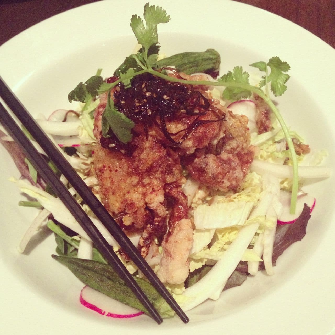 Spicy Soft Shell Crab Sui Choy Salad