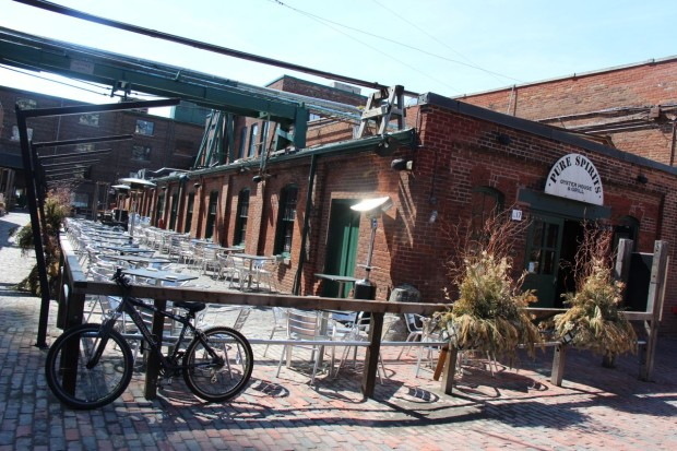 Pure Spirits Oyster House in Toronto's Distillery District